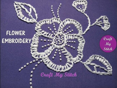 Hand embroidery   Flower embroidery