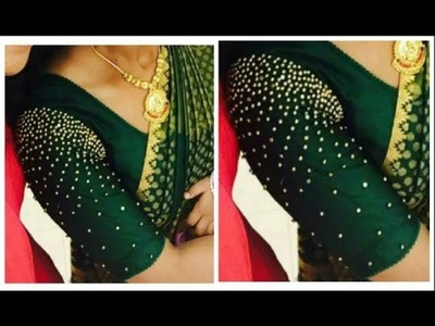 Hand Made Bridal Sleeves Heavy Beaded Work | Very Simple & Easy To Make