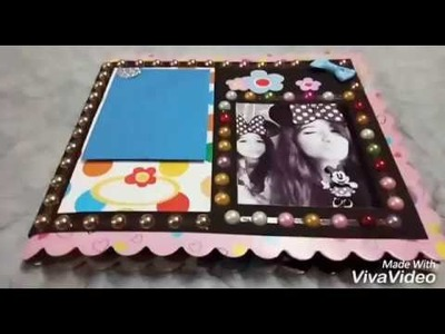 Mini photo album. scrapbook. greeting card.  Colorful cute and Lovely.  ????