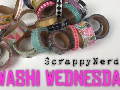 Washi Wednesdays | Episode 16 | Scrapbook Process Video | ScrappyNerdUK