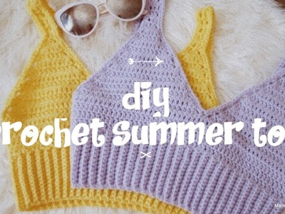 Crochet Summer Crop Top Tutorial