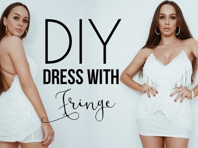 DIY Dress with fringe ( EASY )  | Tijana Arsenijevic
