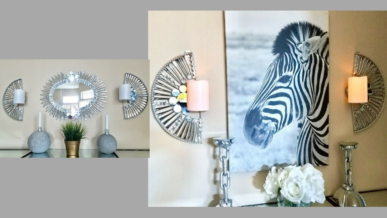 Mirror Sconces Wall Decor: Diy Quick And Easy Wall Decor Set Of Mirror + Wall Sconces