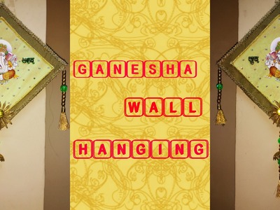 GANESHA WALL HANGING | BEST OUT OF WASTE FROM OLD INVITATION CARDS | CRAFTY ZILLA |