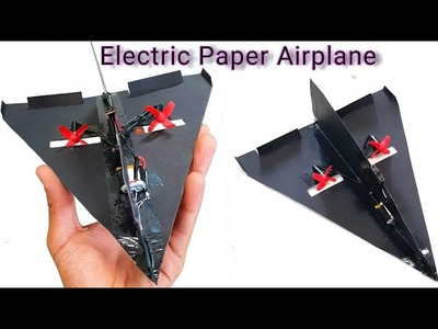 How To make an Electric Paper Airplane at Home || DIY ||
