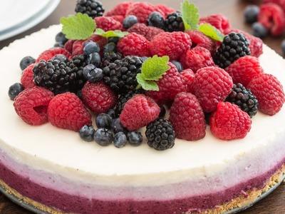 No-Bake Ombre Berry Cheesecake Recipe