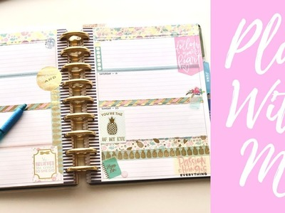 Plan With Me| Horizontal Classic Happy Planner| May 14-20| Weekly Planner Inspiration