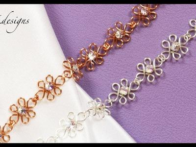 Wirework wedding bracelet