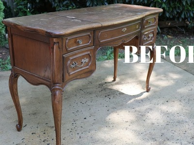 """""""BEFORE and AFTER"""" French Provincial Vanity Makeover! - Thrift Diving"""