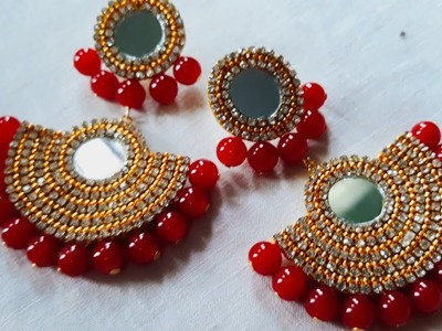 (DIY)HOW TO MAKE BEAUTIFUL EARRINGS.HANDMADE JEWELLERY.HOORIYA STYLE