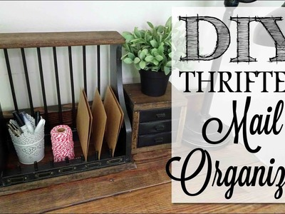 DIY Thrifted Mail Organizer | Before & After