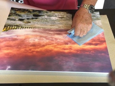 """How to block mount a 20"""" x 16"""" Inkjet Print in 3 minutes!"""