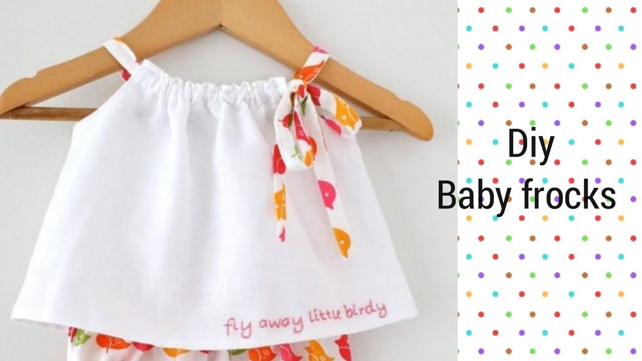 02c7155af00c Latest and new easy summer baby frocks design easy to make at home ...