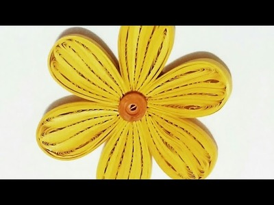 Simple 3D Quilling Flower