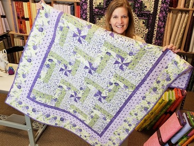Such an Easy Modification.  Let's Make a Pinwheel Rail Fence!   Florentina Rose Quilt Giveaway :)
