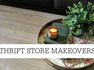 Thrift Store Makeovers | Thrifted Home Decor DIYS