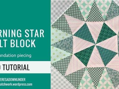 Video tutorial: Morning star quilt block - foundation piecing block