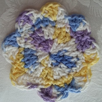 100% Cotton Yarn Coasters - Multicolor Pastels - Elegant and Practical