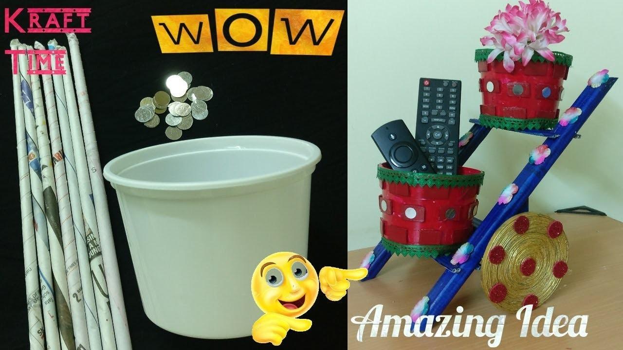 Amazing DIY idea | Multipurpose Ladder.Cart Organizer | Waste Material Craft | Best out of Waste