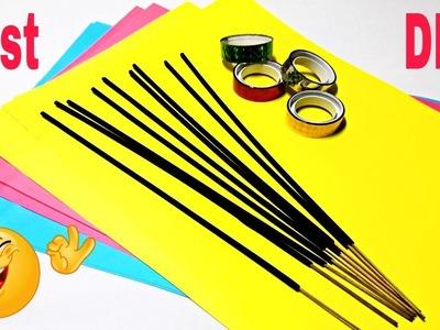 Best Craft Idea!!! DIY Home Decor Craft Using incense sticks and Paper | DIY Paper Crafts