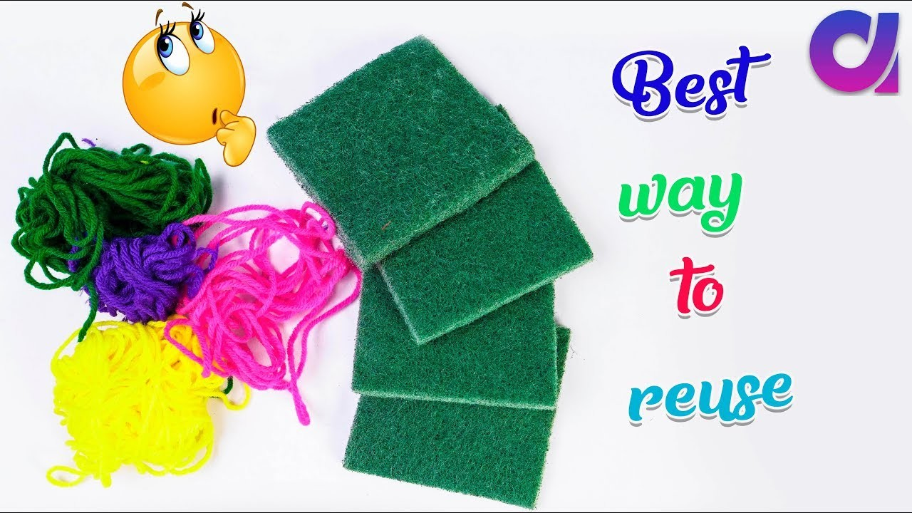 Best use of waste dish scrubber and wool craft idea | DIY arts and crafts | Artkala 511