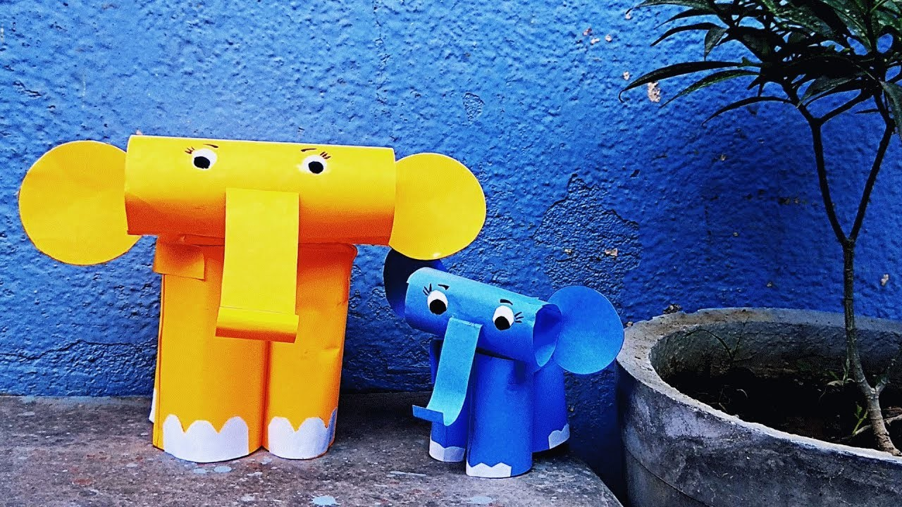 DIY How to make toy elephant using paper craft. Easy paper craft