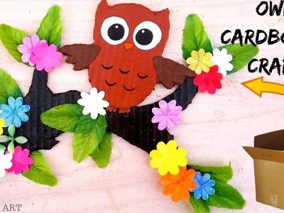 DIY: Learn Owl Craft for Kids    Cardboard Crafts   Home Decor