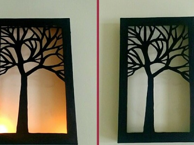 DIY- Night Lamp | Wall Decor | Tutorial | Best Out Of Waste | Paper Craft | By Punekar Sneha.