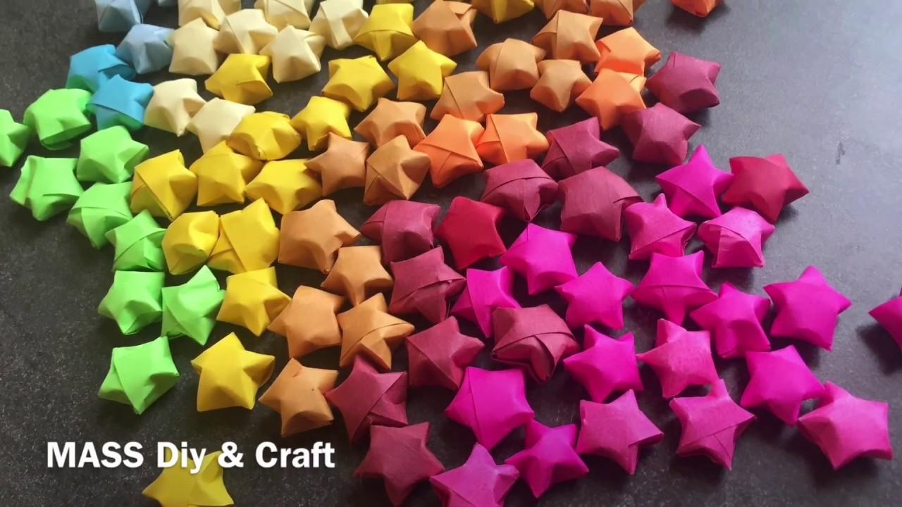 DIY Origami Lucky Star Tutorial Mass Crafts