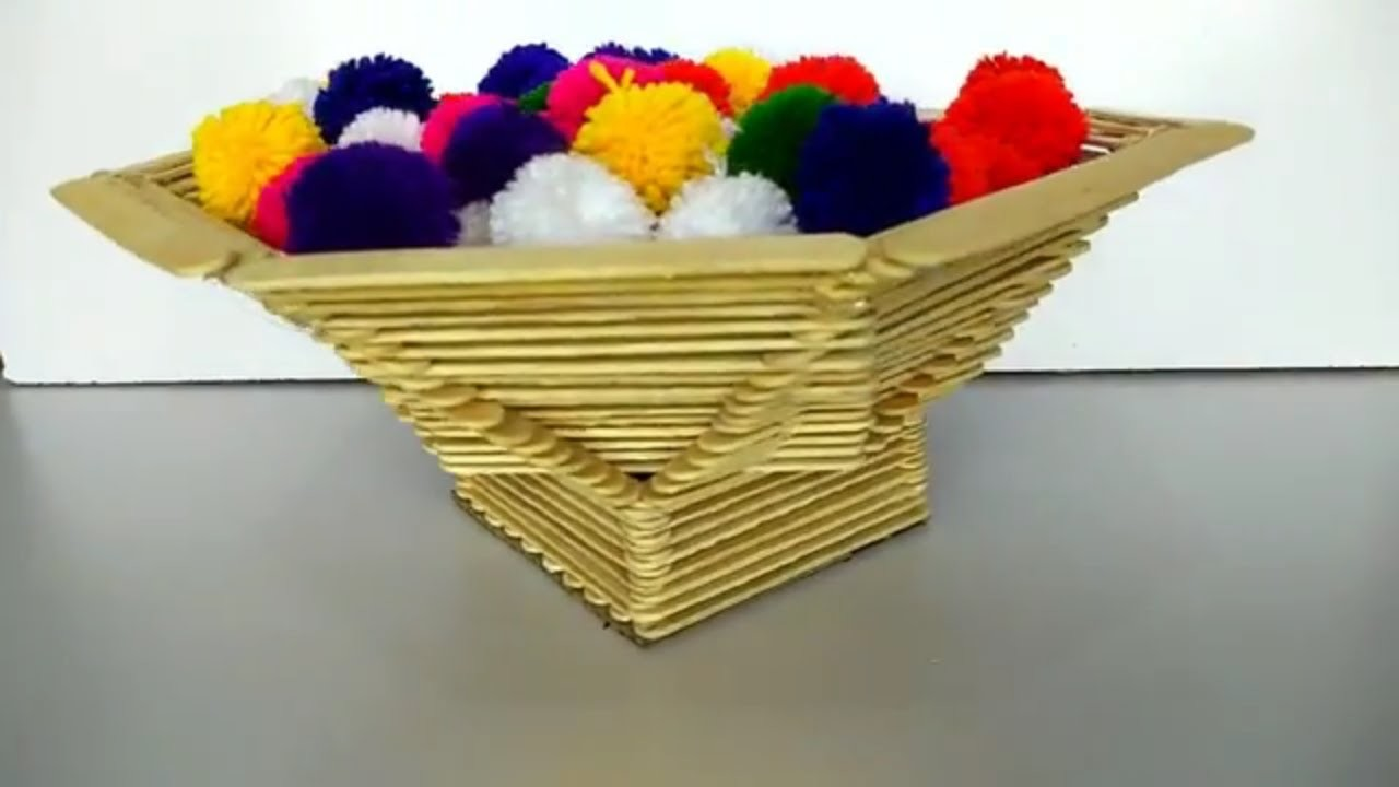 Diy Popsicle Sticks Craft Ideas Fruit Basket With Popsicle