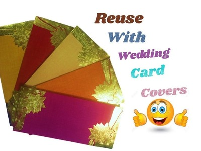 DIY Reuse craft idea with wedding card covers
