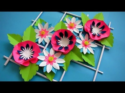 DIY. Simple Home Decor. Wall Decoration. Hanging Flower. Paper Craft Ideas #3