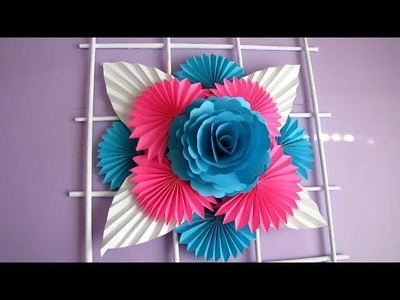 DIY. Simple Home Decor. Wall Decoration. Hanging Flower. Paper Craft Ideas #2