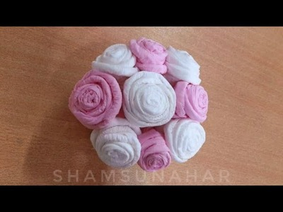 How To Make Tissue Paper Fower | DIY Paper Craft