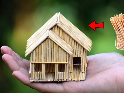 Making of Mini Toothpick house || DIY Craft Idea [ MissDIY Star ]