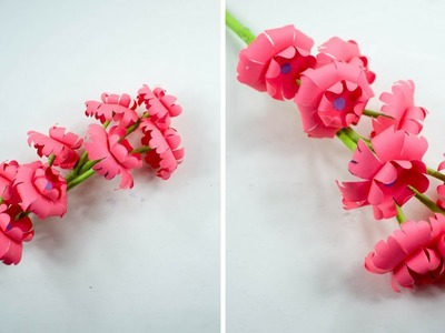 Paper Flower Stick - Paper Flower - Paper Craft- Handmade - Do It Yourself - ???? TheCrafty Tube