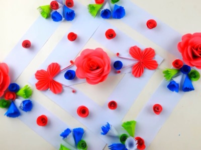 Paper Flower Wall Hanging. Home decoration idea. Wall hanging craft ideas. Simple Home Decor | #BDIY