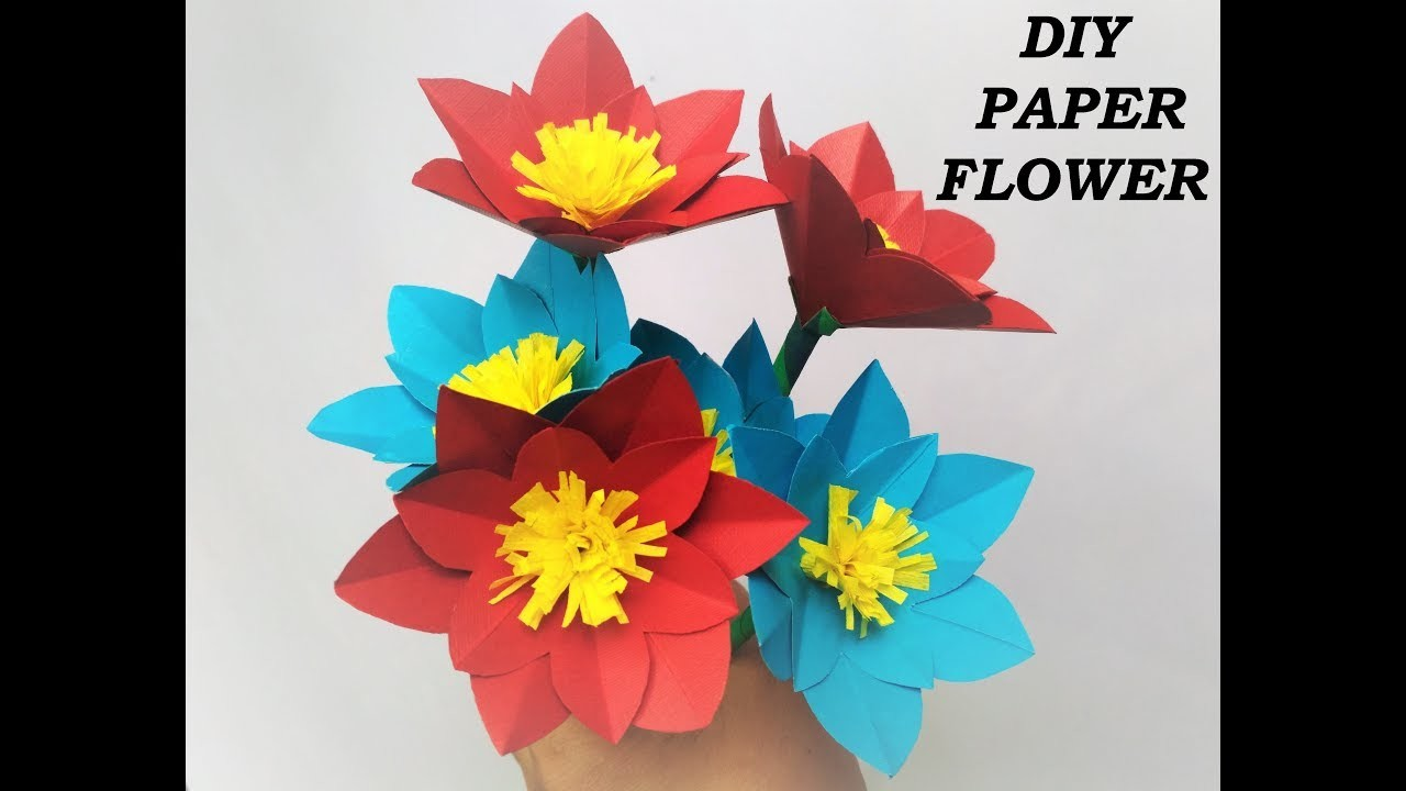A Very Beautiful And Easy Paper Flower Simple Craft Idea Along With