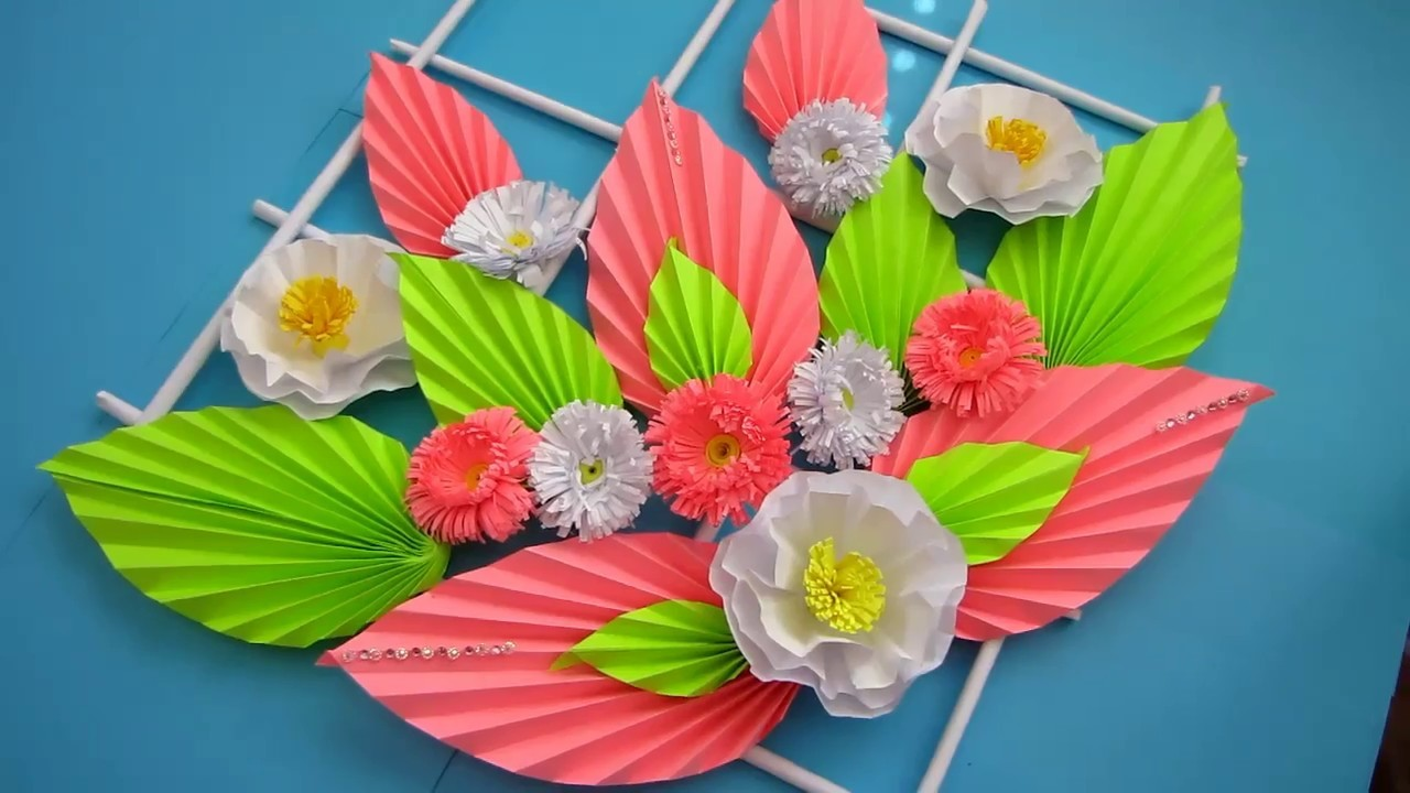 Simple Home Decor Wall Decoration Hanging Flower Paper Craft Ideas 10