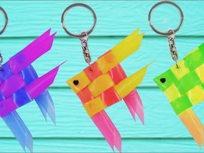 DIY Straw Fish Key Chain | Easy To Make | Craft Hacks Videos | How To Make Straw Fish Key Chain