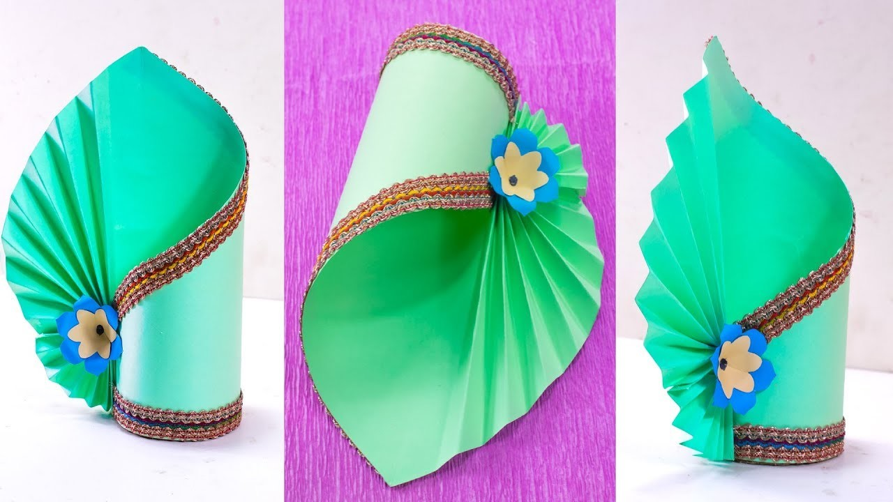How To Make A Flower Vase At Home Simple Paper Craft Making Paper