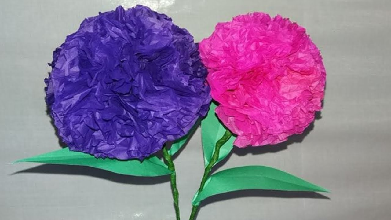 How To Make Round Tissue Paper Flower || Newspaper Craft || color paper craft || dustu pakhe ||