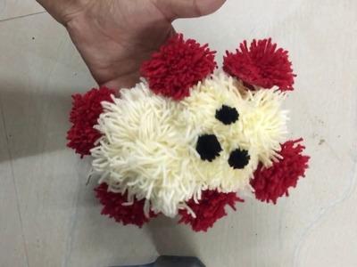 How to make Woolen Teddy Bear | valentine day special Gift |  Yarn craft | How to make yarn pom pom