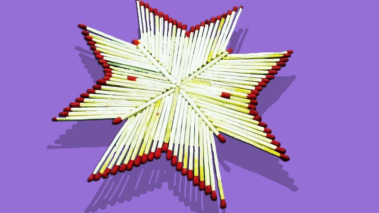 Matchstick Craft Ideas For Kids How To Make Matchstick Star Craft