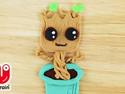 PLAY DOH | Cartoon Baby Groot Out Of Play Doh |  Crafty Kids | craft for kids