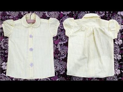 1 year baby shirt cutting tutorial full || diy summer shirt