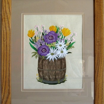 Barrel of Wild Flowers