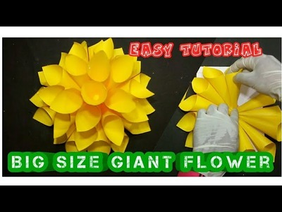Big Size Giant - DIY || How To Make Paper Giant Flower - Complete Tutorial || By SR Creative Ideas