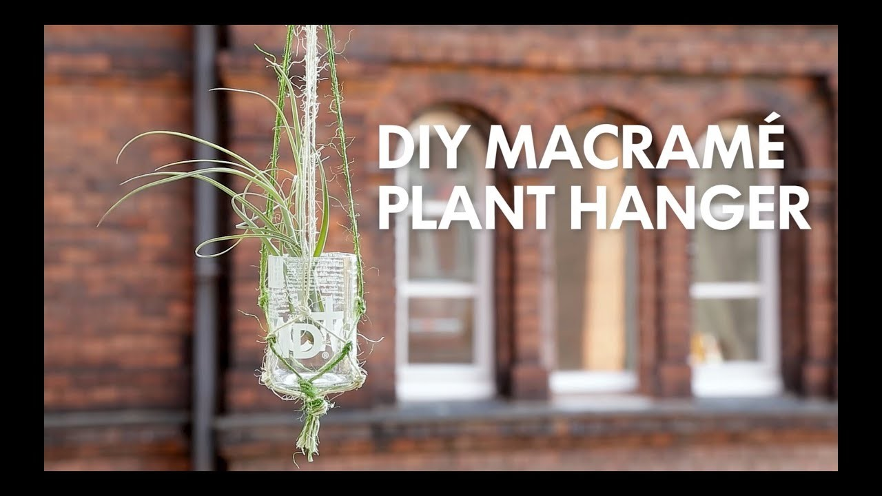 DIY Macrame Plant Hanger - Lemonaid Upcycling Tutorial Hack