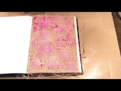 How to Paint on Burlap Art Journal Pages